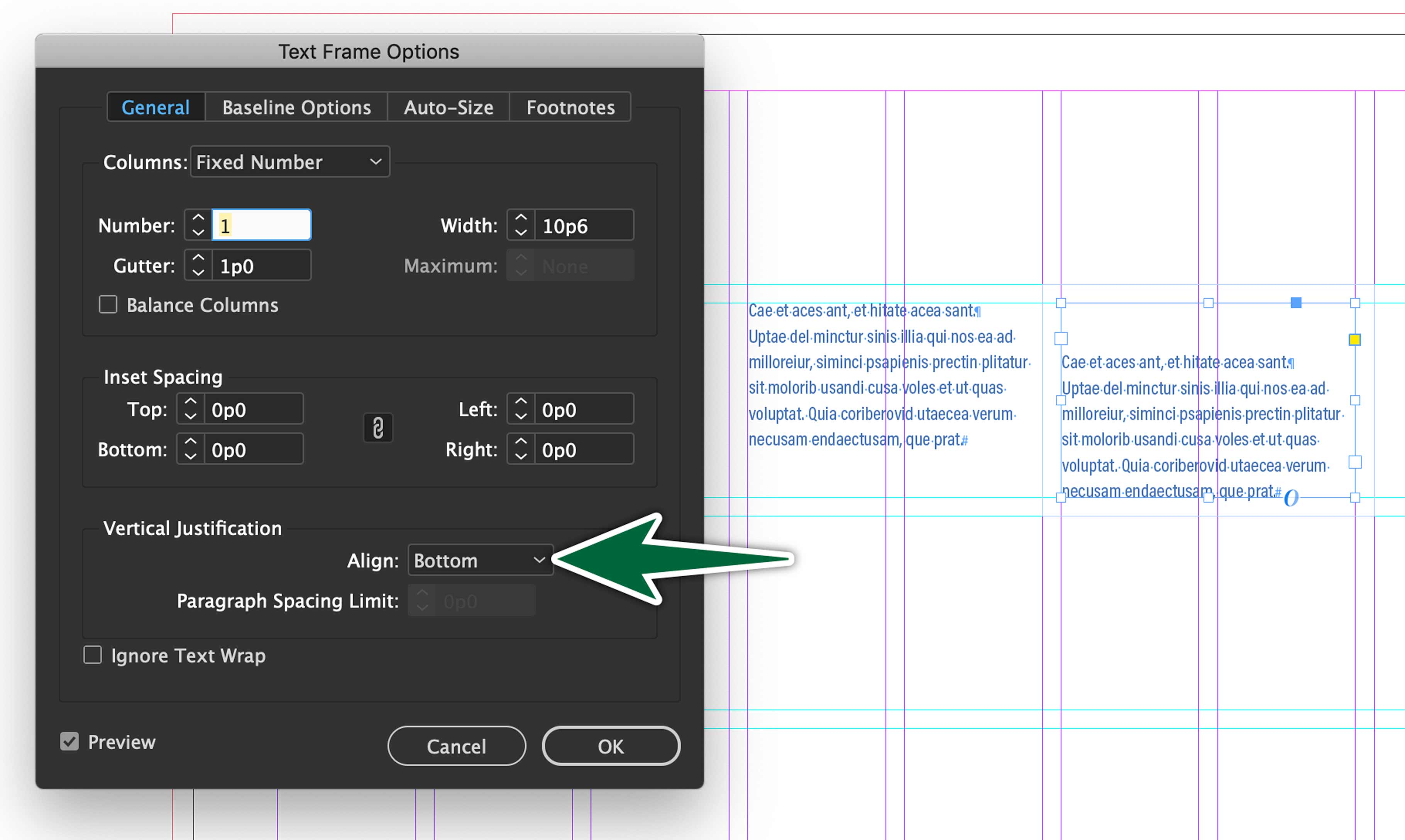 indesign-caption-frame-setup