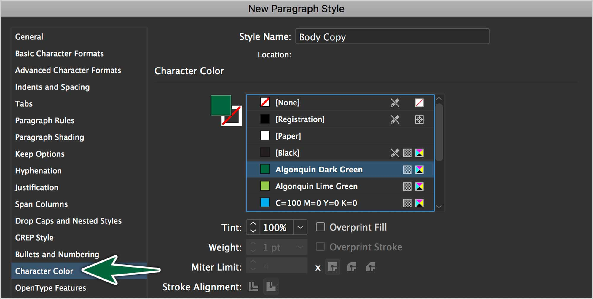 indesign-paragraph-style-character-colour
