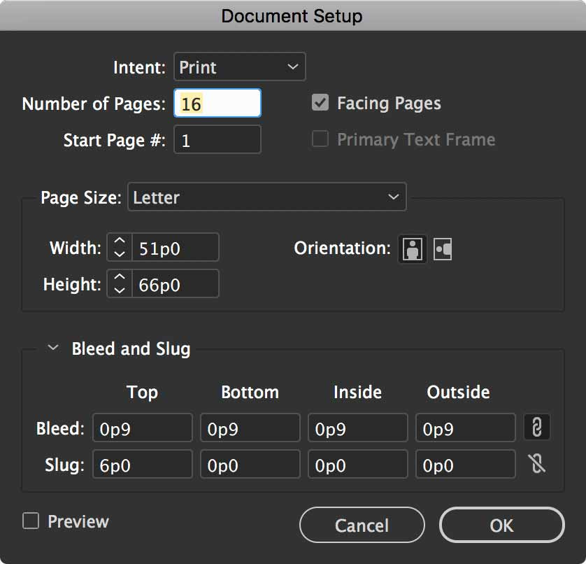 indesign-document-setup